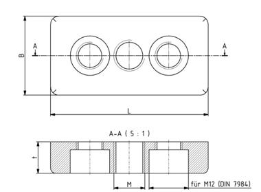 Fußplatten 30x60 M8 - 80x80 M16 Image
