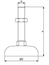 Gelenkfuß D44 M12x85 - D90 M16x200 Image