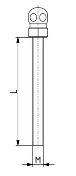 Gewindestange mit Kugel M8x35 - M16x150 Image