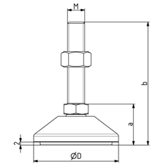 Kombifuß D40 M8x35 - D80 M16x115 Image