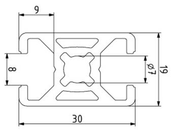Profil 19x30 Nut 8 Image