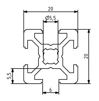 Profil 20x20 Nut 6 Image