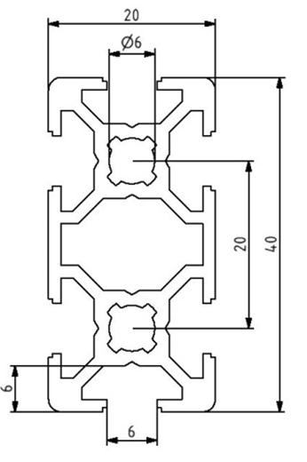 Profil 20x40 Nut 6 Image