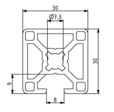 Profil 30x30 1N Nut 8 Image