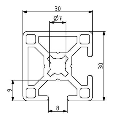 Profil 30x30 2N90 Nut 8 Image