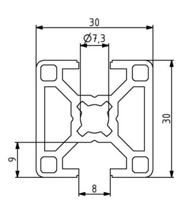 Profil 30x30 2N180 Nut 8 Image