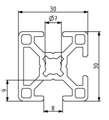 Profil 30x30 3N Nut 8 Image