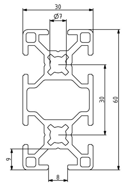 Profil 30x60 Nut 8 Image