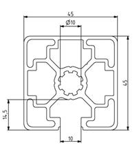 Profil 45x45L 1N Nut 10 Image