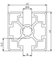 Profil 45x45L 2N180 Nut 10 Image