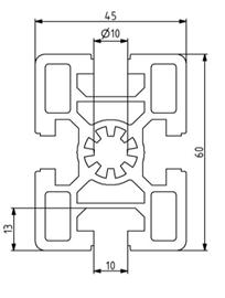 Profil 45x60 Nut 10 Image