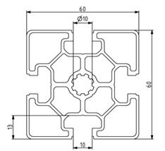 Profil 60x60L Nut 10 Image