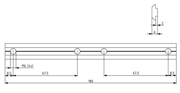 Profilverbinder Nut 8 - Länge 180 mm Image