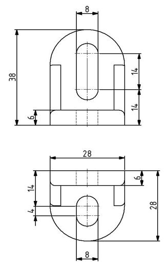 R-Winkel 28x28x28 mm Nut 8/10 inkl. Befestigungssatz Image