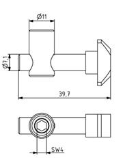 Schnellspannverbinder 45/30 Nut 10/8 senkrecht 0° Image