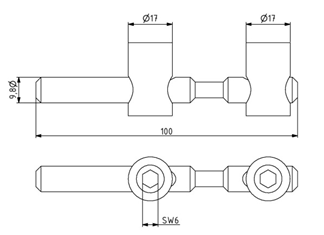 Schnellspannverbinder 45 biegbar Nut 10 Stirn-Stirn Image
