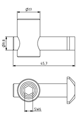 Schnellspannverbinder 30 Nut 8 waagrecht 90° Image