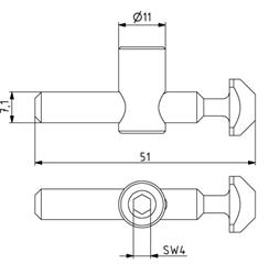 Schnellspannverbinder 30 biegbar Nut 8 Stirn-Nut Image