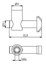Schnellspannverbinder 30 Nut 8 senkrecht 0° Image