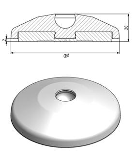 Teller D40 - D80 für Gelenkfuß in ESD Image