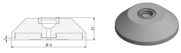 Trapezteller D60 - D80 für Gelenkfuß Image