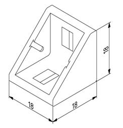 Winkel 20x20 Nut 8 mit Befestigungssatz Image