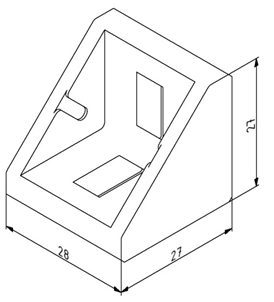 Winkel 30x30 Nut 10/Nut 8 mit Befestigungssatz Image