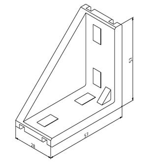Winkel 30x60 Nut 8 mit Befestigungssatz Image