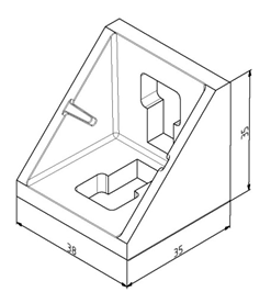 Winkel 40x40 Nut 10 mit Befestigungssatz Image
