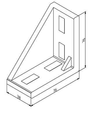 Winkel 40x80 Nut 10 mit Befestigungssatz Image
