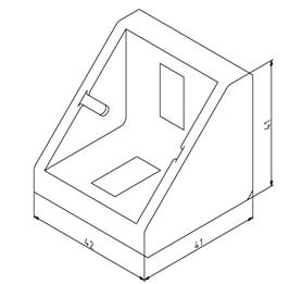 Winkel 45x45 Nut 10 mit Befestigungssatz Image