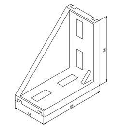 Winkel 45x90 Nut 10 mit Befestigungssatz Image