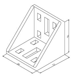 Winkel 60x60 Nut 10 mit Befestigungssatz Image