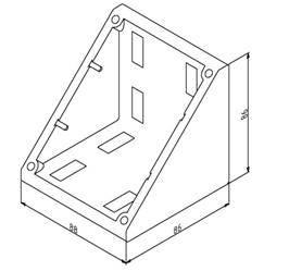 Winkel 90x90 Nut 10 mit Befestigungssatz Image