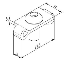 Zentrierplattensatz M8 für Profil 30 M8 inkl. Schraube Image