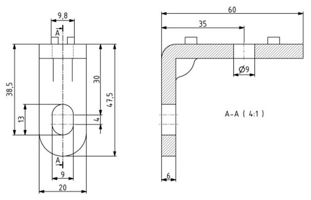 Einhängewinkel-Set für Schutzzaun Nut 10 Image