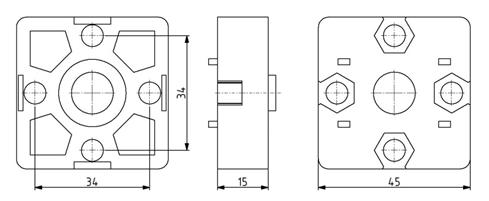 Endverbinder 45x45 Nut 10 Image