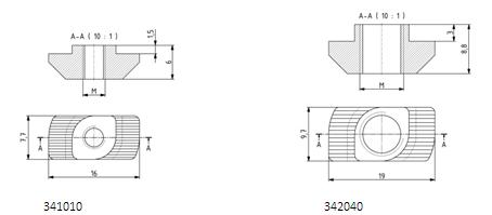 Hammermutter M4 - M8 Nut 6, 8, 10 Image