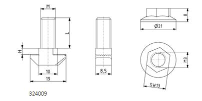 Hammerschraubensatz M6x16, M8x20, M8x25, M8x30 Image