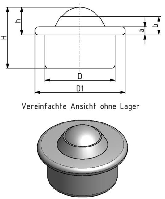 Kugelrolle KR15 Image