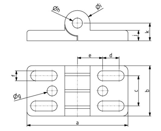 Scharniere 30x60 Nut 8 mit Langloch Image