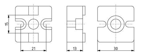 T-Verbinder 30x30 Nut 8 Image