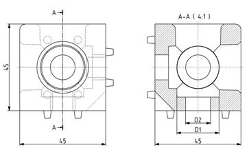 Würfelverbinder 45x45/3 Nut 10 Image