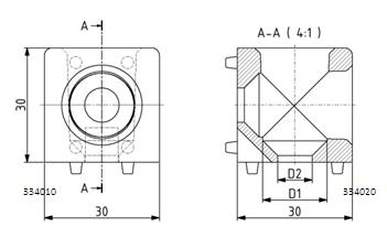Würfelverbinder 30x30/2 Nut 8 Image