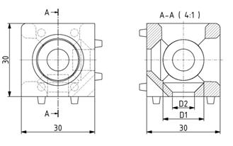 Würfelverbinder 30x30/3 Nut 8 Image