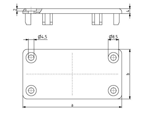 Abdeckkappen 40x40 - 80x160 für Kabelkanal, Kunststoff PA schwarz Image