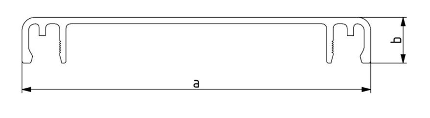 Deckel 40 - 160 für Kabelkanal, Länge: 3000 mm, Aluminium Image