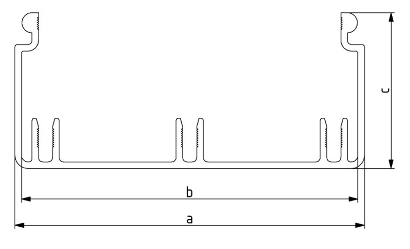 Kabelkanal 40x40 - 80x160, Länge: 3000 mm, Aluminium Image