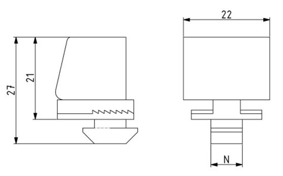 Klemmblock Nut 8, Scheibenstärke 1 - 9 mm Image