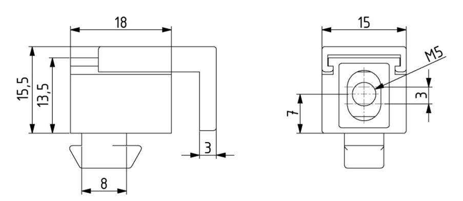Multi-Uniblock Nut 8 M5 Image